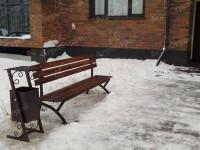 Скамьи со спинкой и урны для придомовой территории. Бульвар Леонардо да Винчи