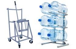Стеллажи для бутылей, бутылеопрокидыватели