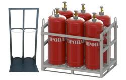 Стойки для баллонов с техническими газами