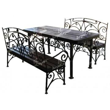 «Валенсия» (стол + 2 скамьи)