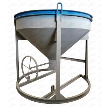 Бадья для бетона «Рюмка» 0.5 м³ под рукав, со штурвалом