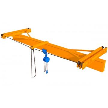 Подвесной мостовой кран с ручным приводом
