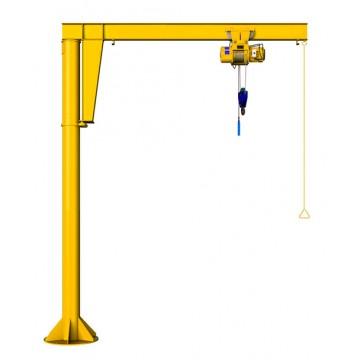 Консольный кран на колонне с ручным приводом